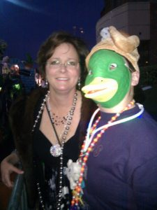 A Mardi Gras duck mask purchased by my mischievous father. celebrated on this Father's Day